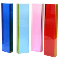 Collection of 4 Lucite Sculpture Tower Columns by Vasa Mihich