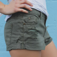 Beach Bonfire Denim Shorts