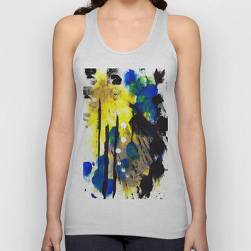 Abstract Painting Unisex Tank Top by Yuval Ozery