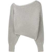 Asymmetrical Cropped Pullover