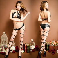 Hot Deal Cute On Sale Black Sexy Sleepwear Bikini Exotic Lingerie [4933172612]