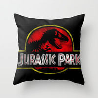 JURASSIC PARK Throw Pillow by Draken Stuff + Lilliu