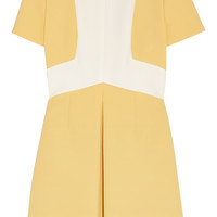 Fendi - Two-tone cotton-crepe and silk-crepe mini dress