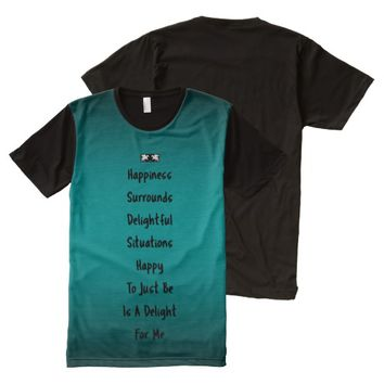 Happy Quote by Kat Worth Men's All-Over-Print T-Shirt