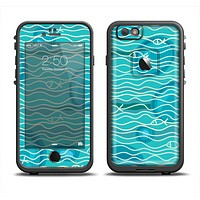 The Blue Abstarct Cells with Fish Water Illustration Apple iPhone 6/6s LifeProof Fre Case Skin Set