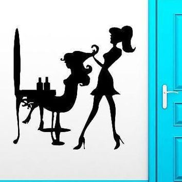 Wall Sticker Vinyl Decal Sexy Girl Beauty Salon Hair Stylist Haircutter Unique Gift (ig1878)