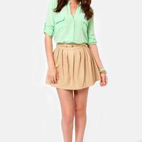 Good In-Vent-tions Mint Green Button-Up Top