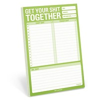 Get Your Sh*t Together Pad in Lime