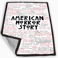 American Horror Story Quotes Blanket for Kids Blanket, Fleece Blanket Cute and Awesome Blanket for your bedding, Blanket fleece **