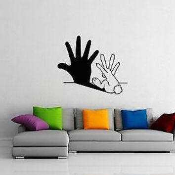 Wall Stickers Vinyl Decal Bunny Joke Shade Modern Style For Kids Unique Gift ig1473