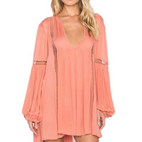 Free People Just The Two Of Us Tunic in Soft Coral