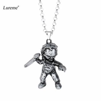 Lureme Child's Play Curse of Chucky Necklace Vintage Metal Doll Pendant Necklace (nl005848)