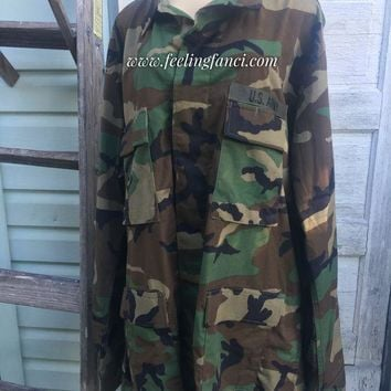 DCCKDW7 Rolling Stones vintage camo army jacket