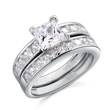 fast delivery 8b48f 7d628 1 carat princess cut diamond engagement ring  wanelo.co e7e19dd834