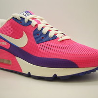 [454460-600] Womens Nike Air Max 90 HYP Premium Pink Flash Pink Hyper Blue