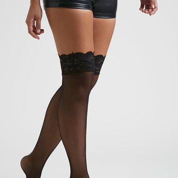 Fishnet Lace Thigh-High Tights