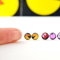 Pac-Man Earring Collection - 8Bit Arcade Game Earrings - Video Game Accessory -  PacMan Fever - Ms. PacMan - 80's Lovers Gift