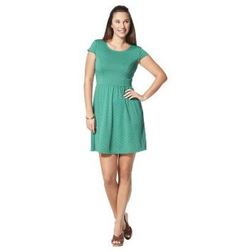 Target : Xhilaration® Juniors Fit and Flare Jaquard Cap Sleeve Dress - Assorted Colors : Image Zoom