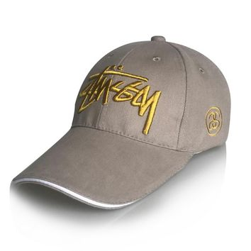 Stussy Korean Embroidery Cap Alphabet Cotton Baseball Cap