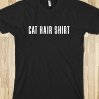 Cat Hair Shirt-Unisex Black T-Shirt