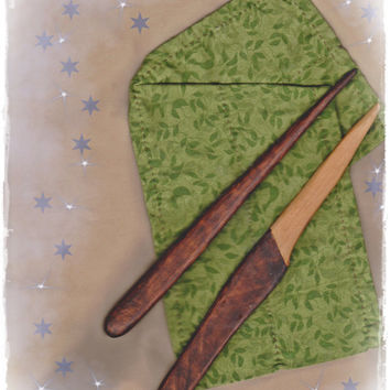 "Athame Wand Set Prim All Cedar Wood Witch Wizard Pagan Wiccan ""La Petite Sorcellerie"" OOAK"