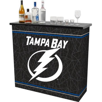NHL Tampa Bay Lightning 2 Shelf Portable Bar w- Case