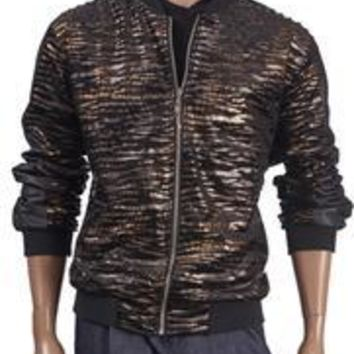 Insearch 599 Men's Animal Print Bomber Jacket
