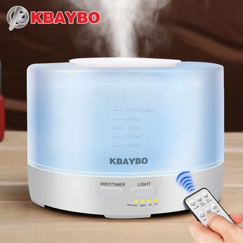 500ml Remote Control Ultrasonic Air Aroma Humidifier With 7 Color LED Lights Electric Aromatherapy Essential Oil kitchen Aroma Diffuser
