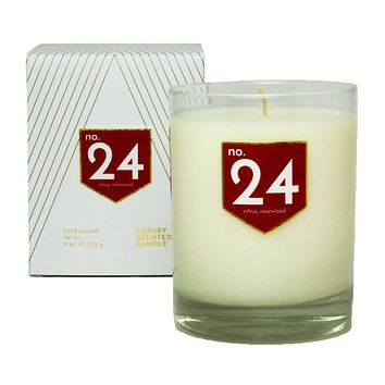 No. 24 Citrus Rosewood Scented Soy Candle