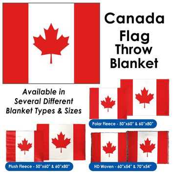 Canada Flag Throw Blanket / Tapestry Wall Hanging