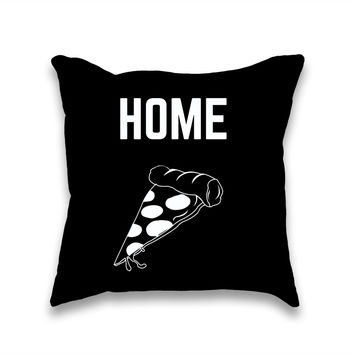 Home Slice Pizza Throw Pillow