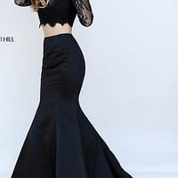 Sherri Hill Two Piece Dress with Mermaid Skirt