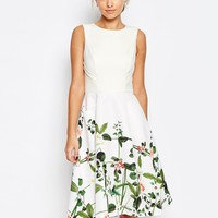 Ted Baker Secret Trellis Print Dress