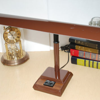Vintage Brown Goose Neck Desk Portable Lamp Underwriters Laboratories