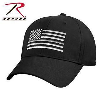 Thin Silver Line Flag Low Pro Cap