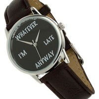 Topman 'Whatever' Leather Strap Watch, 35mm   Nordstrom