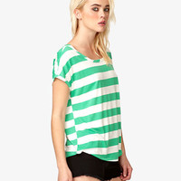 Striped Boxy Tee | FOREVER 21 - 2019536064