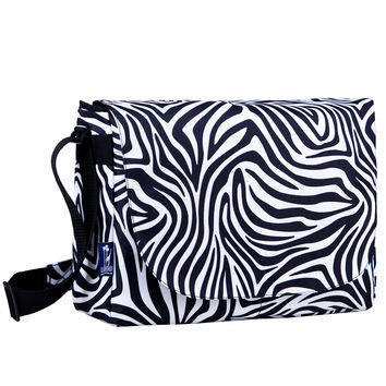 Zebra Laptop Messenger Bag - 38405
