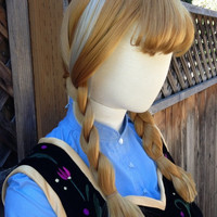 Anna Frozen Princess Version B in Ginger Blonde Wig Screen Quality Custom Couture Styled