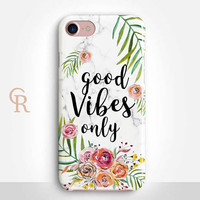 Vibes Phone Case For iPhone 8 iPhone 8 Plus - iPhone X - iPhone 7 Plus - iPhone 6 - iPhone 6S - iPhone SE - Samsung S8 - iPhone 5 Good Vibes