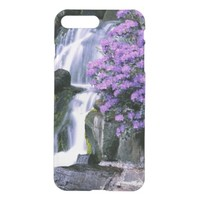 beautiful waterfall and flowers case