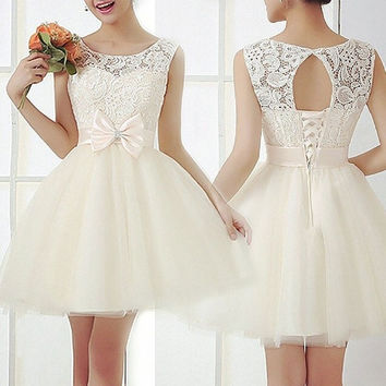 New Women Sleeveless Ball Gown Prom Bridesmaid Party Evening Cocktail Dress [8403192007]