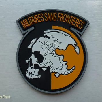 Metal Gear Solid :militares sans frontiers Patches PVC morale patch  insignia military  Tactical patches for cloth