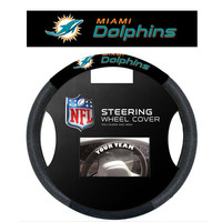 Miami Dolphins NFL Poly-Suede Steering Wheel Cover
