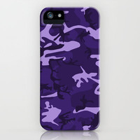 Dark Purple Camo Pattern iPhone Case by Doodle's Designs | Society6