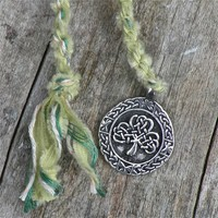 Hand Spun Spirit Cord - Clover Leaf - Handmade with Love