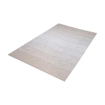 8905-032 Delight Handmade Cotton Rug In Beige And White - 2.5ft x 8ft
