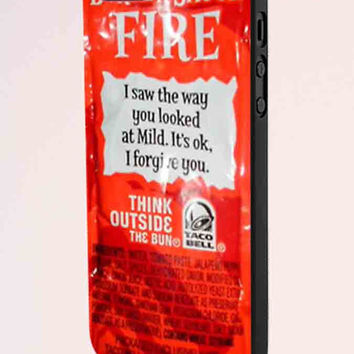 Taco Bell Sauce Fire Design iPhone 5 Case