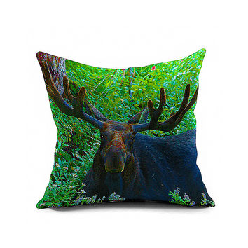Cotton Flax Pillow Cushion Cover Animal   DW112