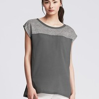Banana Republic Womens Linen Dolman Top